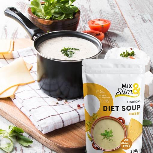 Dietní polévka sýrová