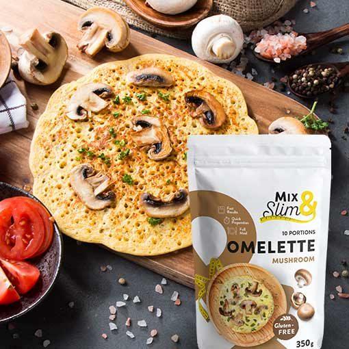 Dietní omeleta žampiónová