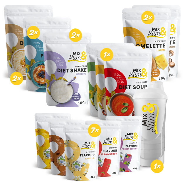 Levně Mix Slim Keto Dieta na 4 týdny - 146 porcí
